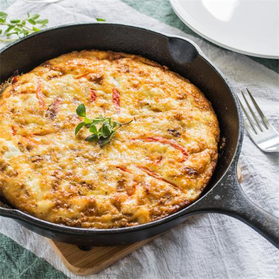 Roasted Red Pepper & Feta Frittata