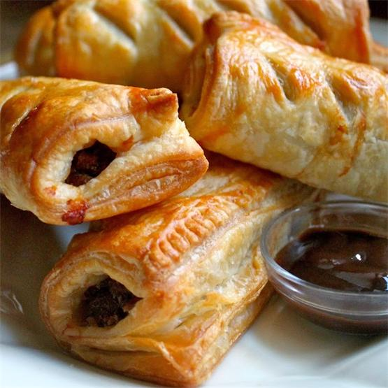 Delicious beef sausage encased in puff pastry are beyond tasty!