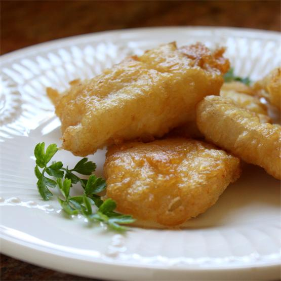 Deep fried battered Italian salt cod is perfect for Lent.