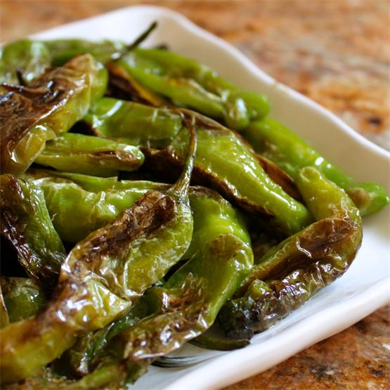 Shisito Peppers are a wonderful snack or side dish!