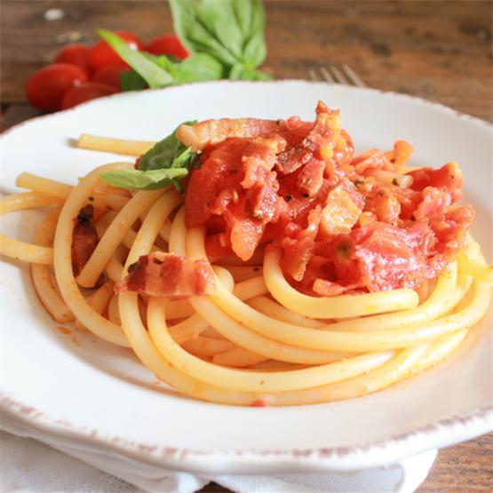 Amatriciana with Fresh Tomatoes
