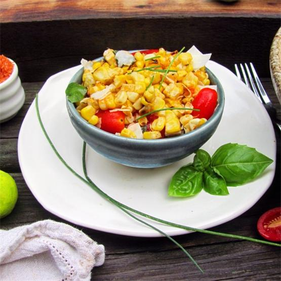 Grilled Corn Salad with Tomatoes