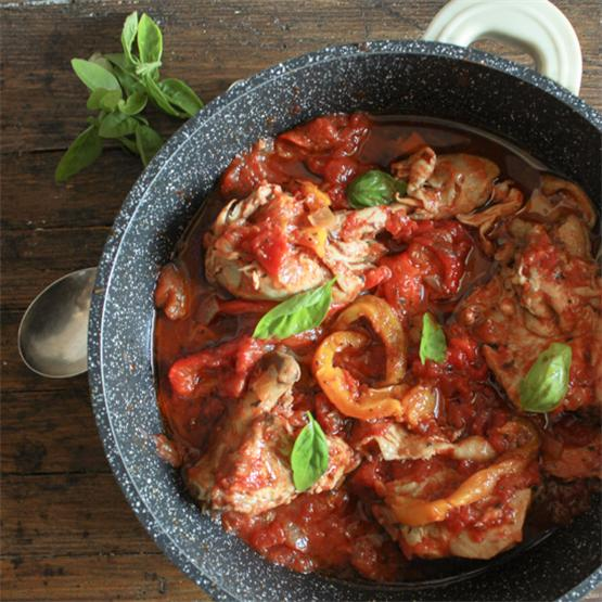 Italian Chicken and Tomato Skillet with Roasted Peppers