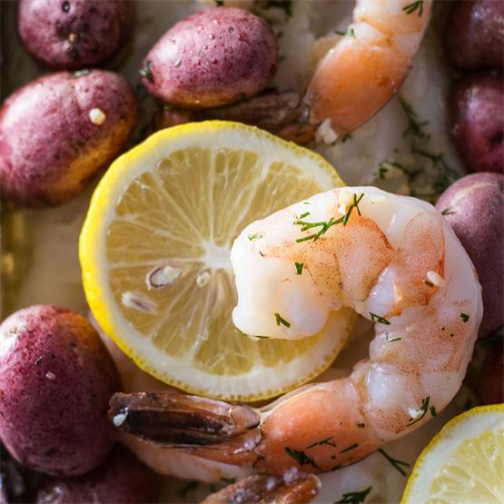 Garlic and Dill Seafood Bake