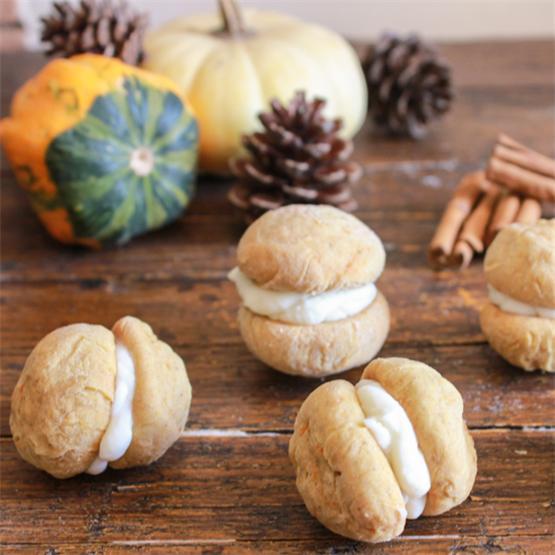 Pumpkin Baci di Dama with Mascarpone Filling