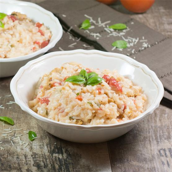 Tomato-Basil and Chicken Sausage Risotto