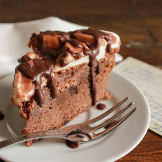 Fudgy Marshmallow Brownie Cake