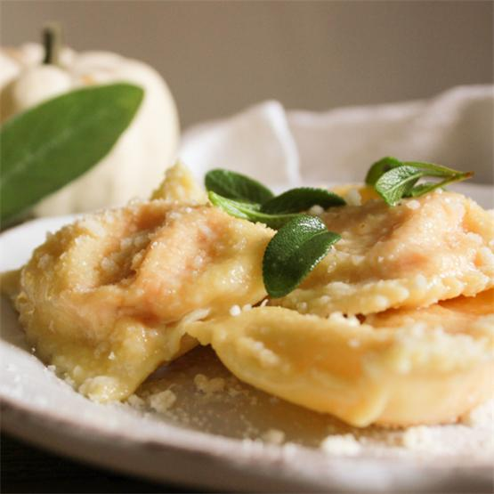 Creamy Squash Filled Ravioli