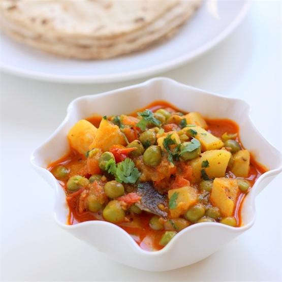 Gujarati Aloo Matar