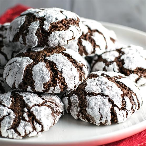 Classic Chocolate Crinkle Cookies