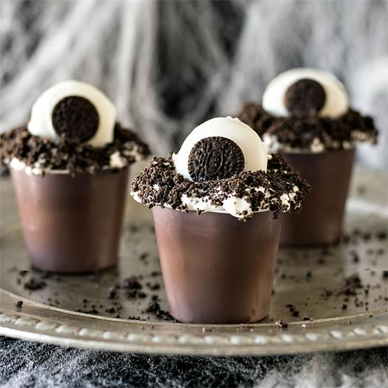 Monster Eye Pudding Cups