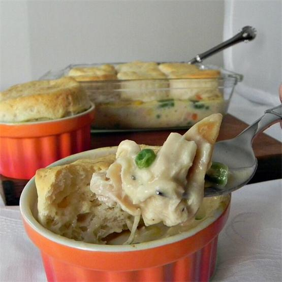 Easy Chicken and Biscuit Casserole