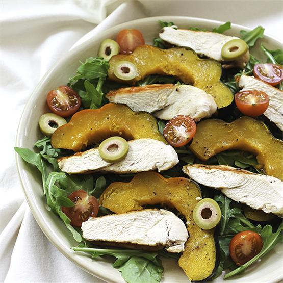 Grilled Chicken Acorn Squash Salad