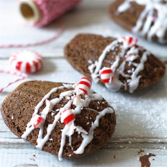 Gluten Free Chocolate Peppermint Madeleines