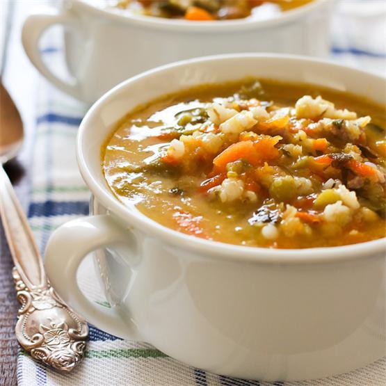 Butternut Squash Barley Soup