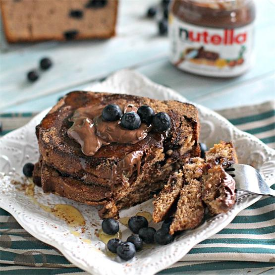 Chocolate Blueberry French Toast