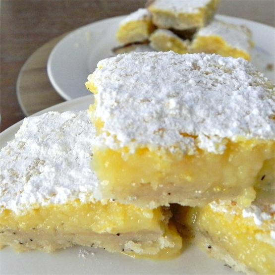 Earl Grey Lemon Shortbread Bars