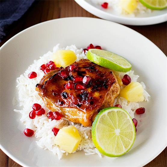 Pomegranate Pineapple Chicken