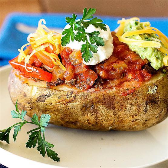 Taco Stuffed Potatos