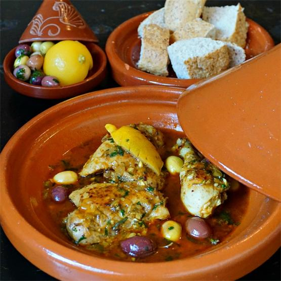 Chicken Tagine with Preserved Lemons and Olives