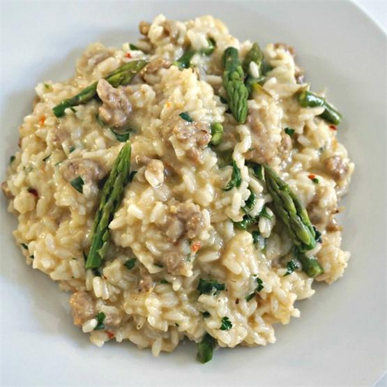 Italian Sausage and Asparagus Risotto