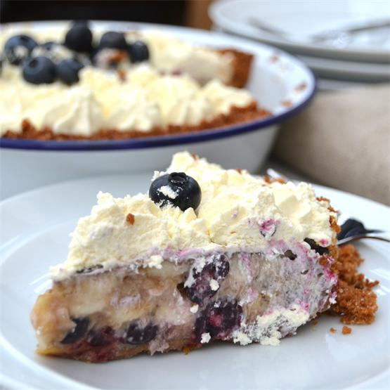 Banana & Blueberry Pie