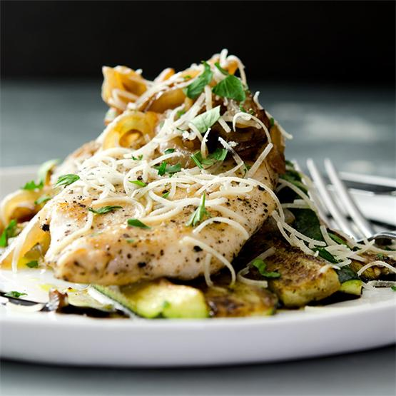 Sauteed Chicken Breast and Zucchini Medley
