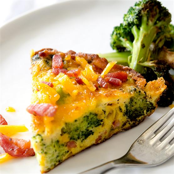 Cheesy Bacon Egg Frittata with Broccoli