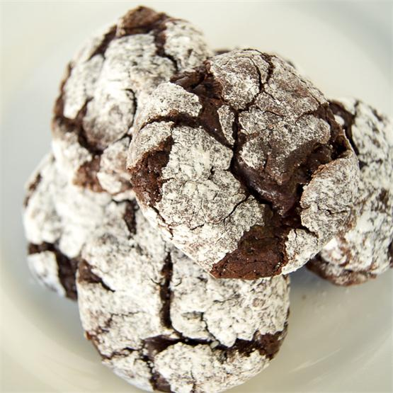 Triple Chocolate Meringue Cookies