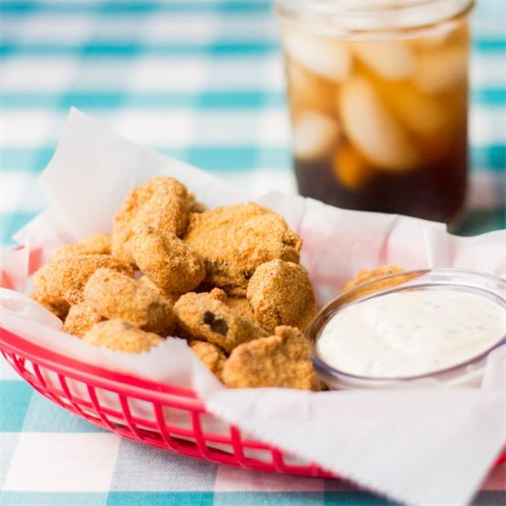 Sweet and Spicy Fried Pickles