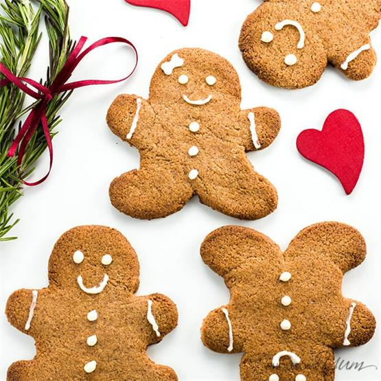 Sugar-Free Gingerbread Cookies (Low Carb, Paleo, GF)