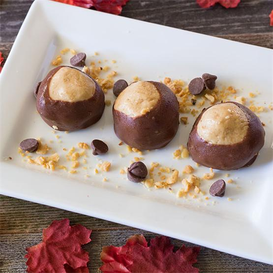 Buckeyes - Chocolate Covered Peanut Butter Balls