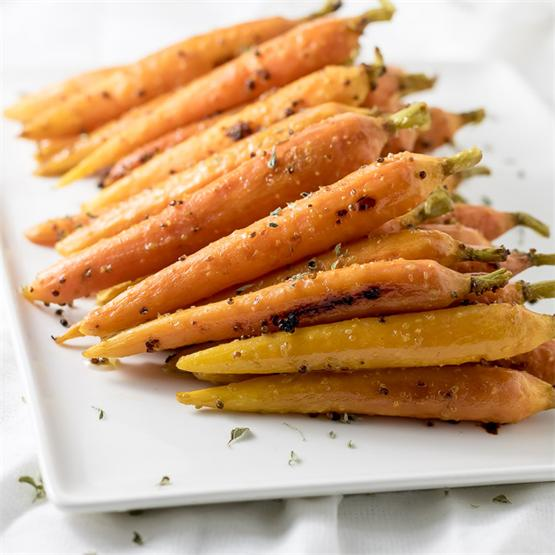Oven-Roasted Maple Glazed Carrots
