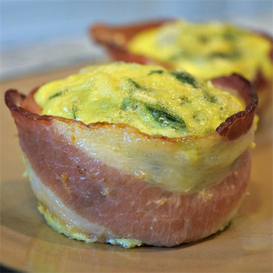 Bacon-Wrapped Egg Muffins