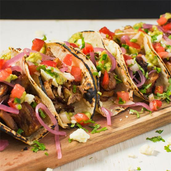 Loaded carnita tacos for the best game day grub!