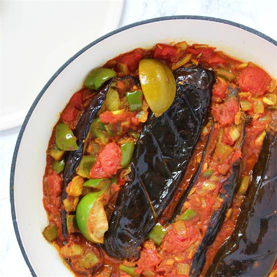 Lime and Roasted Aubergine Curry Recipe