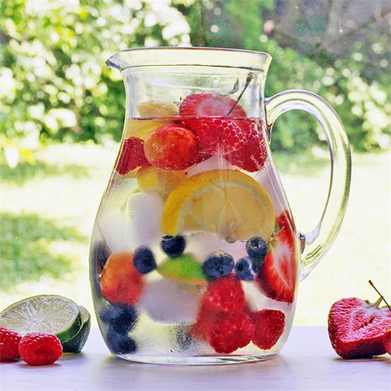 Simple Rainbow Infused Water Pitcher