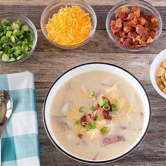 Easy to make Creamy Baked Potato Soup