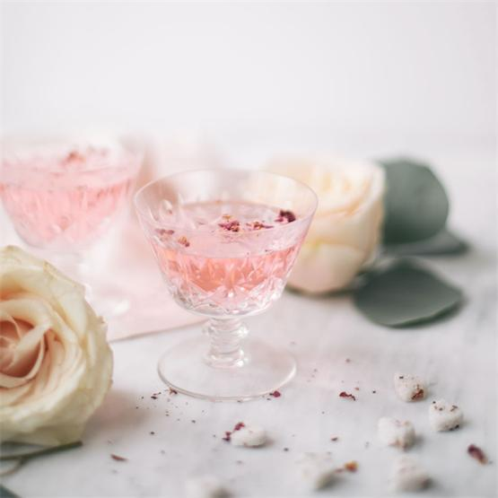 Rose Infused Cocktail