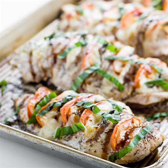 Hasselback Chicken Caprese (Low Carb, Gluten-Free)