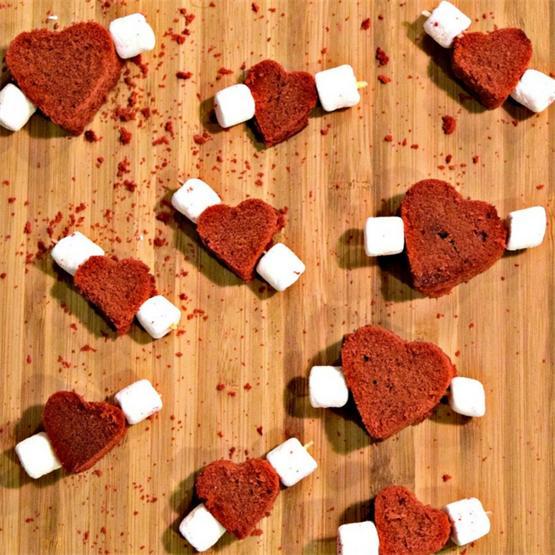 Red Velvet Pound Cake Hearts