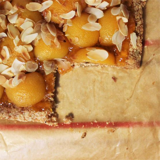 Gluten-free Apricot and Ginger Tart with Absolut Vodka's Moscow