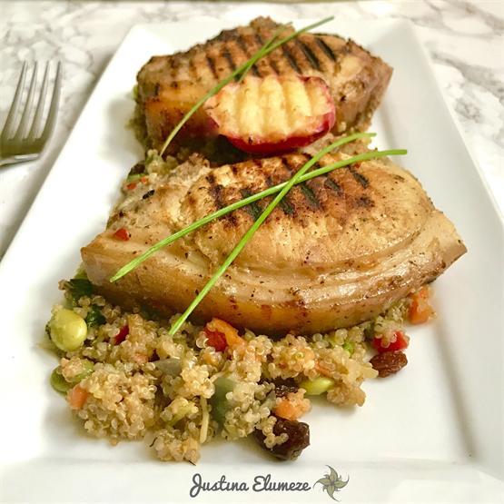 Pork with Peaches & Quinoa