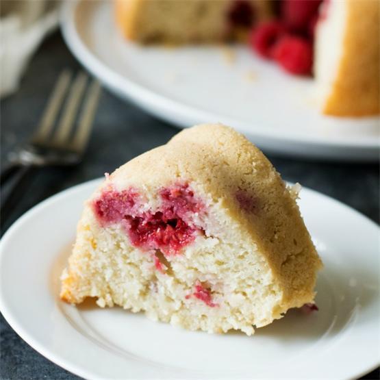 Gluten Free Raspberry Vanilla Pudding Bundt Cake