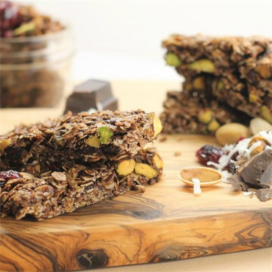 Healthy Pistachio, Cocoa, and Cherry Granola