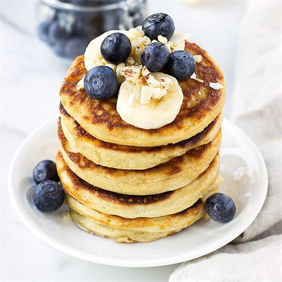 Fluffy Buckwheat & Rice Flour Pancakes