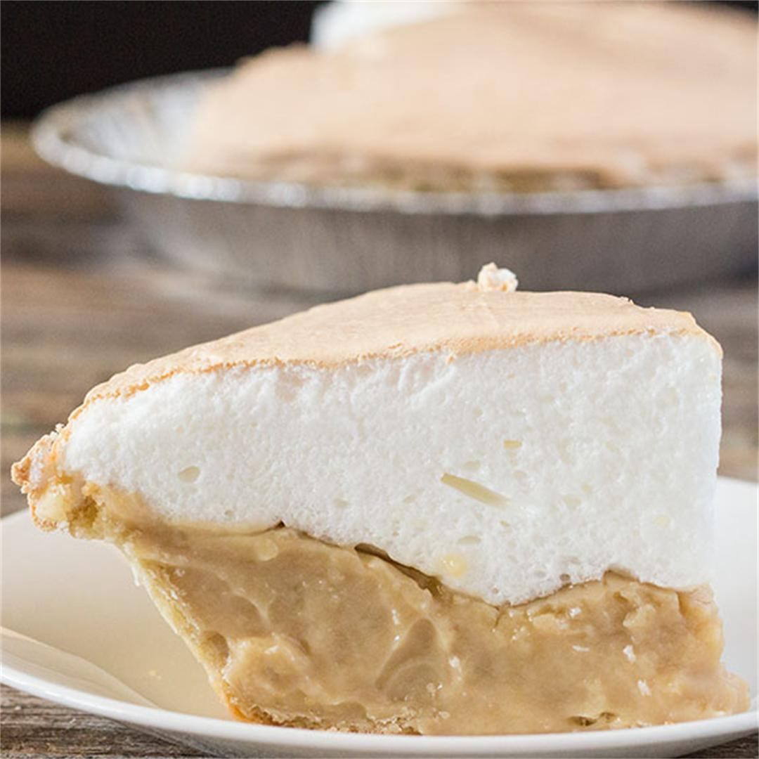 Tasty pie with a homemade butterscotch fillin
