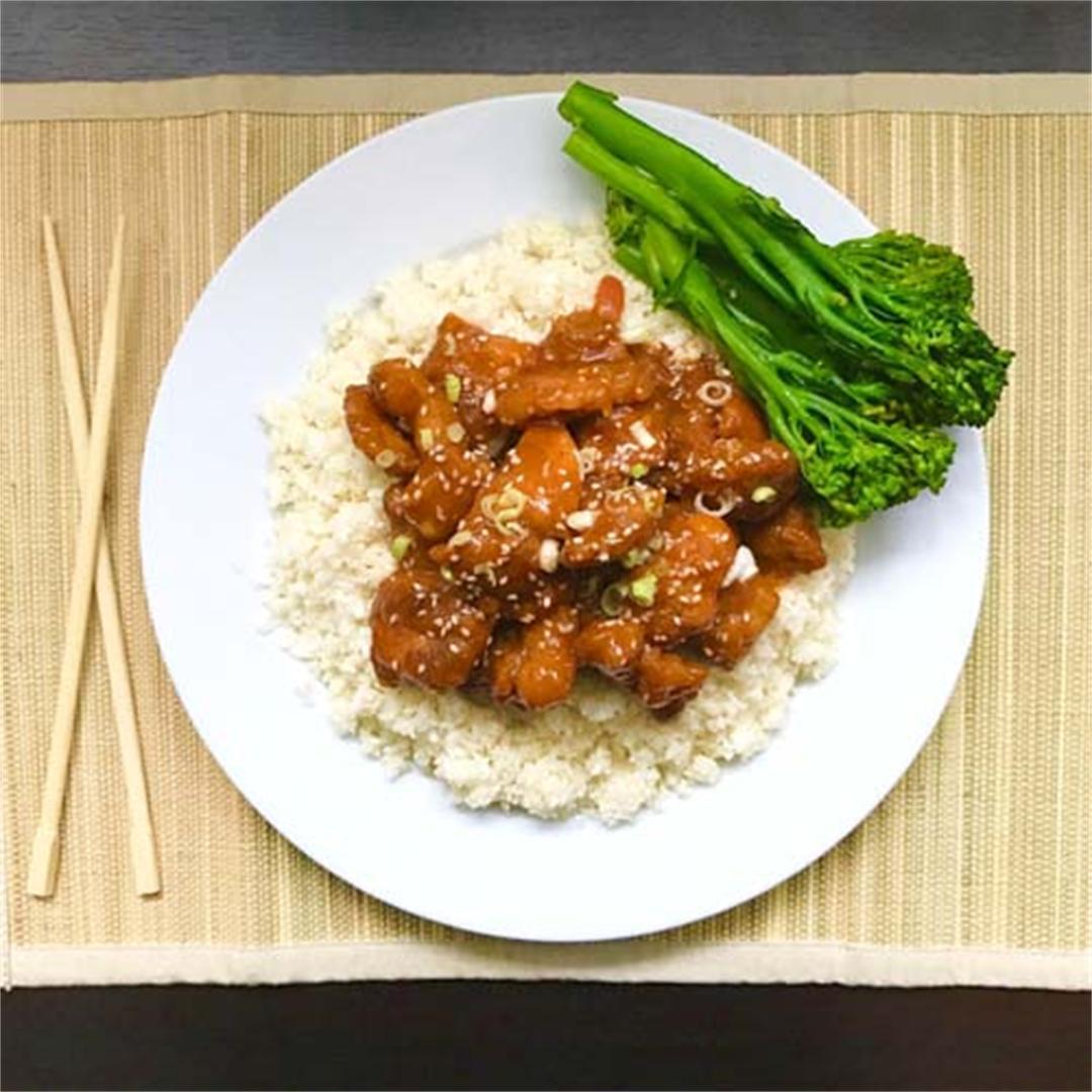 Paleo Sweet & Sour Chicken with Cauliflower Rice