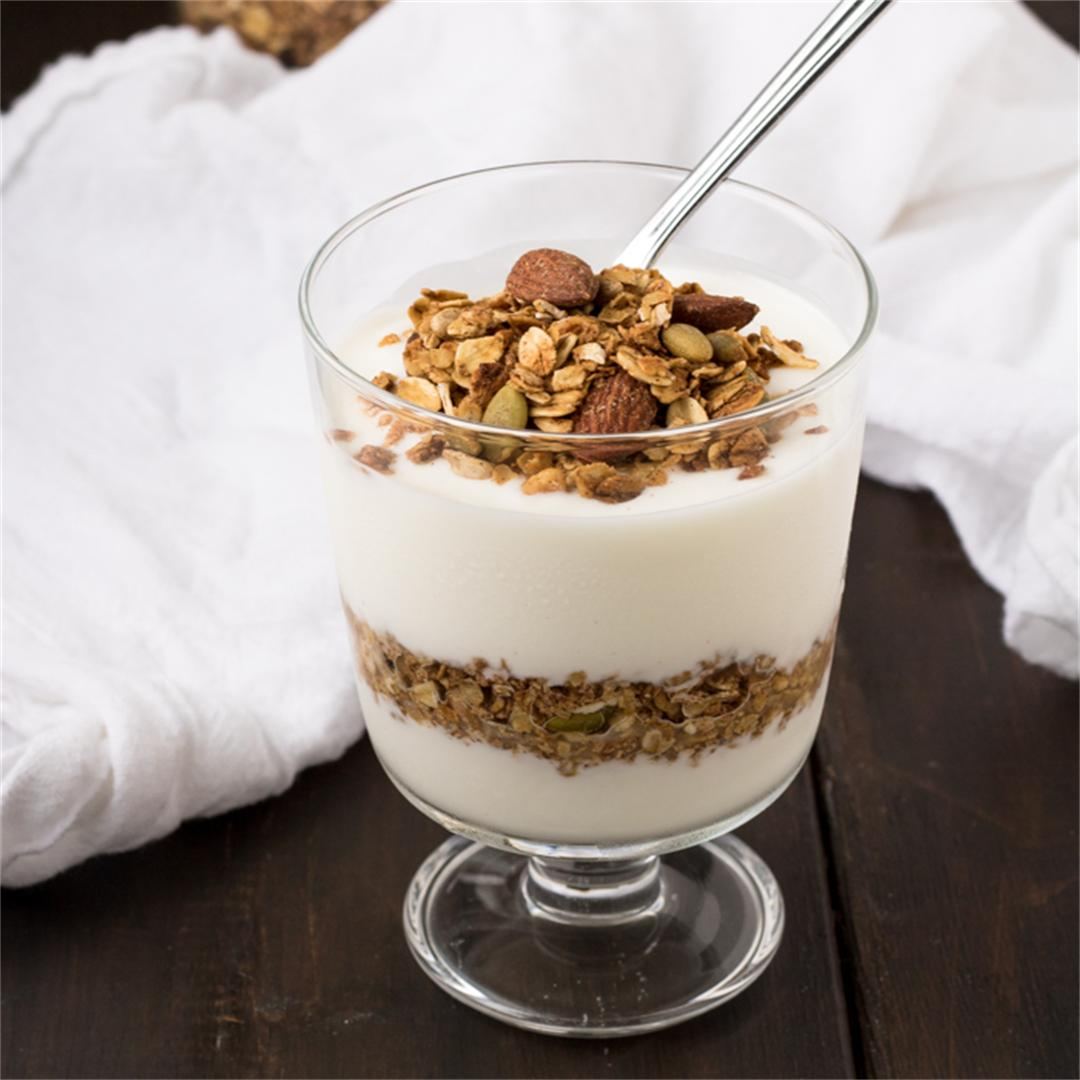 Maple Cinnamon Spiced Granola