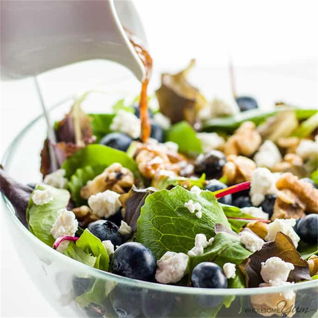 Spring Mix Salad With Blueberries, Goat Cheese & Walnuts (GF)